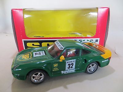 "Scx 'porsche 959 ""bp"" Con Luz' #32. Superb, Boxed. Slot-Car. 1:32. Exin"