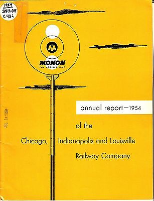 Chicago, Indianapolis and Louisville Railway Company Annual Report 1954 Monon