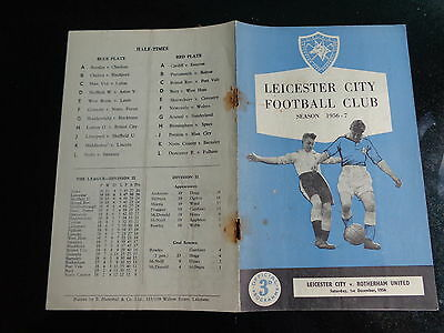 LEICESTER  CITY  v ROTHERHAM  UNITED    Division 2 1956 / 1957