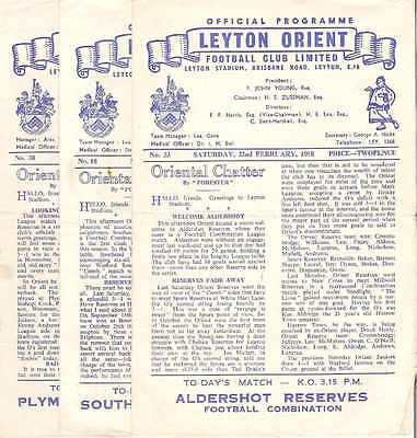 LEYTON ORIENT RESERVES  v   SOUTHEND UNITED  res  1957/8