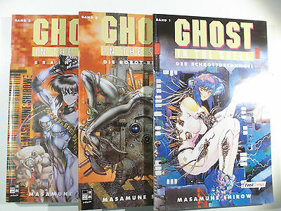 Masumune Shirow GHOST IN THE SHELL 1 2 3 komplett ( Feest Paperbacks )