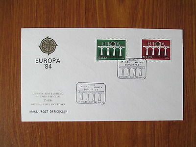 MALTA - 1984 FIRST DAY COVER - EUROPA '84 OFFICIAL FDC No 2/84