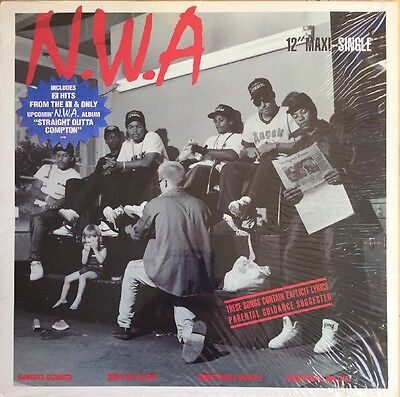 "Nwa Gangsta Gangsta 12"" Ep Ruthless 1988 Usa First Press Still In Shrink Nr Mint"