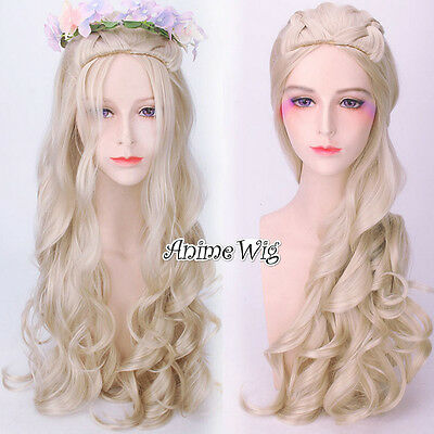 For A song of ice and fire Daenerys Targaryen 65CM Blonde Long Cosplay Wig