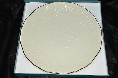 """LENOX The Wedding Promises Anniversary Plate & Box Ivory Color 14"""" Serving Plate"""