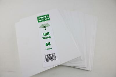 Craft UK 100 White Coloured Recycled A4 Sheets 250gsm Card Craft Cardstock