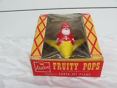 1950 Arden Airlines Plastic Santa Jet Plane Fruity Pops Candy Container IOB