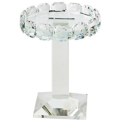 15cm Crystal Clear Glass Pillar Candle Holder Candlestick Wedding Table Decor
