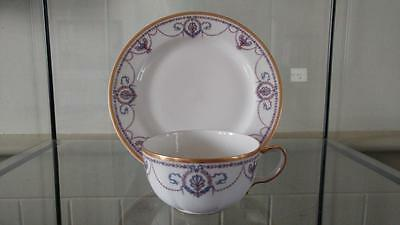 Beautiful French Antique Haviland Limoges  Porcelain Tea Cup & Saucer C 1902