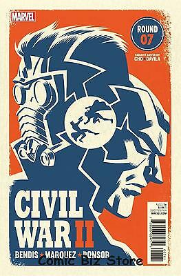 Civil War Ii #7 Cho Litho Print Lithograph Near Mint Bagged And Boarded
