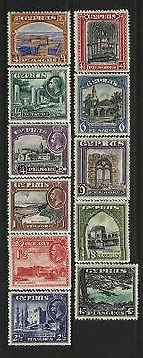 Cyprus  Scott # 125-35 Hinged  Value $ 208.80