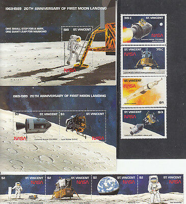 Space by St-Vincent Grenadines MNH Sc 1204-10  Value $ 26.75  US $$