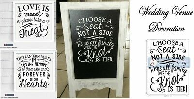 CHOOSE A SEAT NOT A SIDE - Wedding Venue Decoration - Vinyl Sticker for Board