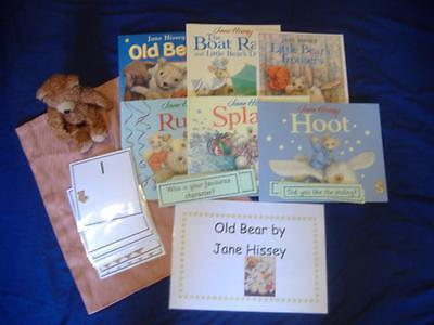 Old Bear by Jane Hissey Story Resources, Books & Sack EYFS/ KS1