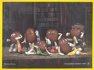 The M&M Gang takes it off for summer, 2013 M&M's Candies Magazine Print Ad