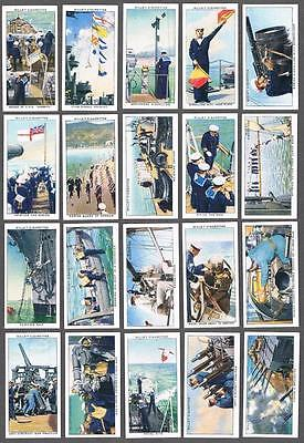 1939 Wills's Cigarettes Life in the Royal Navy Tobacco Cards Complete Set of 50