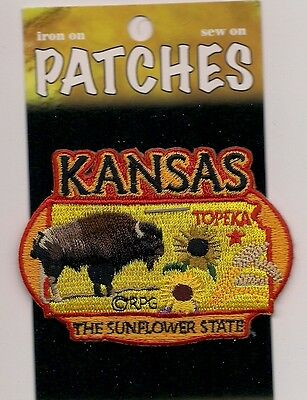Souvenir Patch - State Of Kansas - The Sunflower State - Topeka