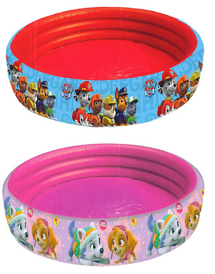 Paw Patrol Childrens Inflatable Paddling Pool Chase Skye Kids Summer Garden Toy