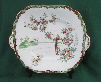 AYNSLEY ... VINTAGE and LOVELY ...  BONE CHINA ...SQUARE/HANDLED PLATE