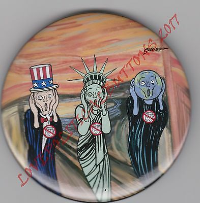 """DONALD TRUMP """"OH NOOO"""" UNCLE SAM  LADY LIBERTY  PLANET EARTH 3 IN. by GREENBURG"""