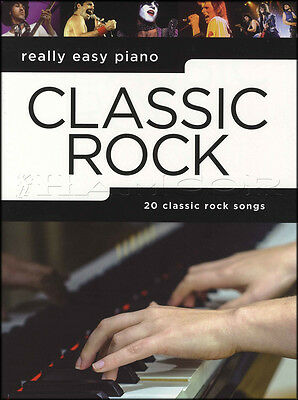 Really Easy Piano Classic Rock Sheet Music Book Queen Journey The Who Thin Lizzy