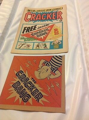vintage comic with free gift rare cracker #2 wfg 1970s beano dandy