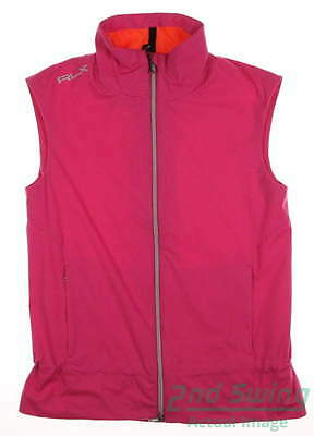 New Womens Ralph Lauren RLX Golf Wind Vest Medium M Pink MSRP $165 285589293001