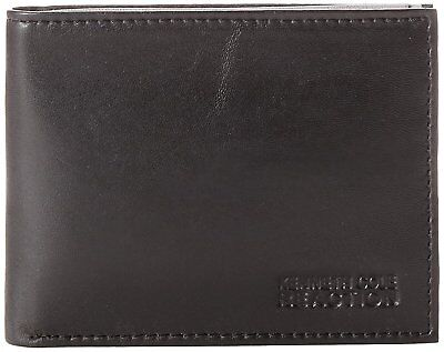 Kenneth Cole REACTION Men's Genuine Leather Passcase Bifold Wallet w/ Giftbox