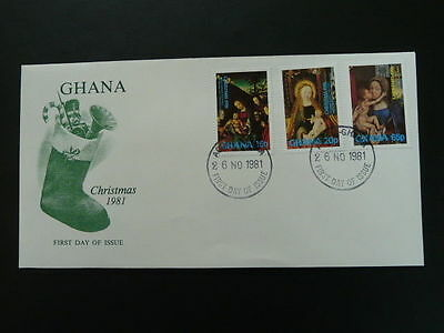 religion religious paintings Christmas 1981 FDC Ghana 54751