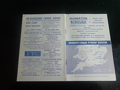 NUNEATON BOROUGH v WEYMOUTH Inc Jeff Astle ex West Bromwich Albion  1975/6