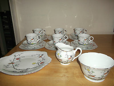 Lovely Vintage Art Deco 1930's Durance Hand Painted 21 Piece Tea Set