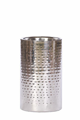 Epicurean Straight Side Wine Cooler Bucket Hammered Stainless Steel Double Wall