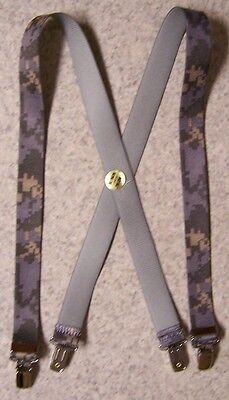 "Suspenders Children 1""x30"" FULLY Elastic Digital Urban Camouflage NEW Made USA"