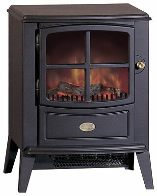 Dimplex Brayford Compact Electric Stove - Optiflame Log Effect/Cast Iron Style