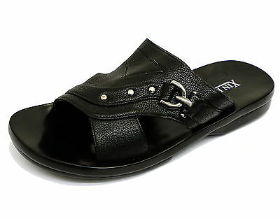 Mens Black Sandals Walking Trail Slip-On Holiday Beach Comfort Shoes Sizes 7-12