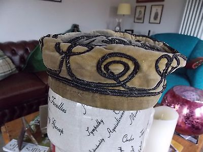 Antique Vintage Edwardian 1920s Original Gents Smoking Hat Cap.