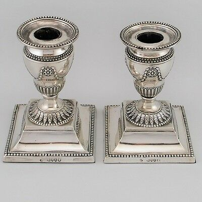 Antique, Sterling Silver, Candlesticks