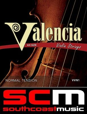 Valencia 4/4 Full Size Violin Strings Steel String Set with Ball Ends New