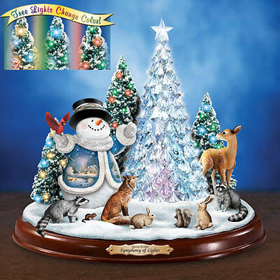 Symphony of Lights Snowman Thomas Kinkade Bradford Exchange