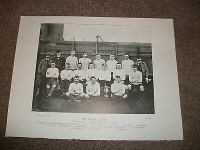 "ROCKLIFF  TEAM   RUGBY UNION TEAM PICTURE 1895   12"" x 9"" ** REPRINT **"