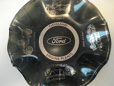 Ford Cleveland Engine Plant Black Ashtry Depicting 1900's To 1930's Cars, Used