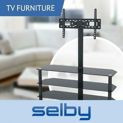 3 Shelf Tempered Glass Tv Stand With Bracket 32 55 Inch 1200mm