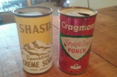 2 Old Soda Cans Shasta & Cragmont Both 1960's Both Have Issues But Original Tins
