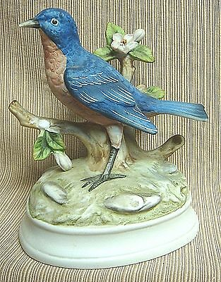 Porcelain BLUEBIRD MUSIC BOX by GORHAM