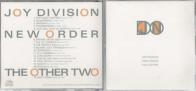 NEW ORDER & JOY DIVISION official Japan PROMO ONLY CD