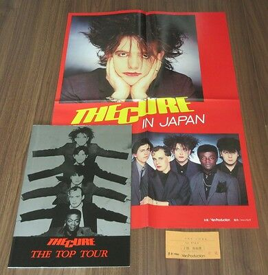 With gig TICKET! The CURE rare JAPAN TOUR BOOK 1984 + POSTER set ROBERT SMITH