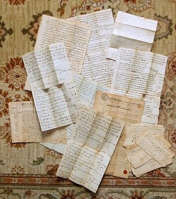1750-1827 FULLER FAMILY of MIDDLETON, MA - HANDWRITTEN DOCUMENTS DEEDS & PAPERS
