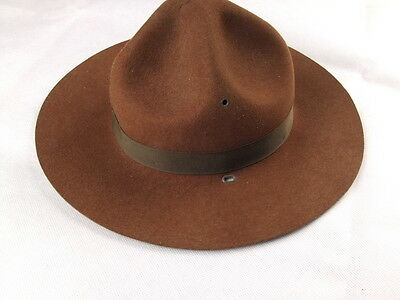 Vintage World War II US Military CampaignService Field Hat Size 6 3/4