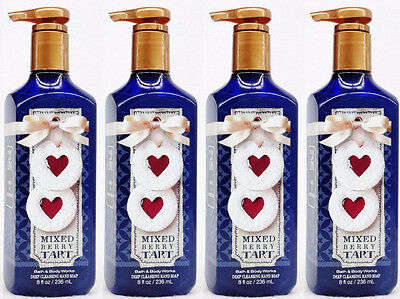4 Bath Body Works MIXED BERRY TART Deep Cleansing Hand Soap