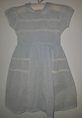 VNTAGE Polka Dot Girl's Party Dress 1940's ~ COLLECTORS, ANTIQUE, DOLLS, BEARS